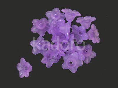 Kwiatek akrylowy fioletowy 10x5 mm - 10 sztuk