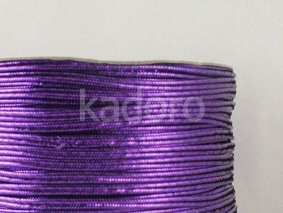 Sutasz chiński fioletowy metalizowany 3mm - szpulka 50 m
