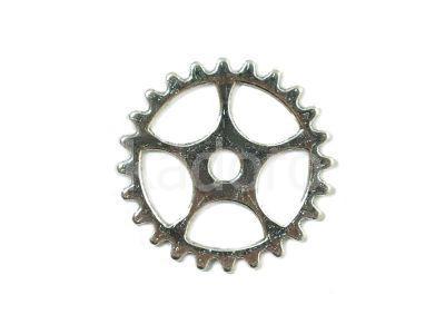 Zębatka XIII-A 25 mm kolor srebrny - 2 sztuki
