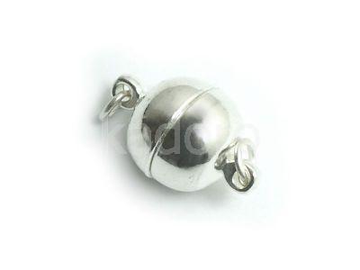Zapięcie magnetyczne 10 mm kolor srebrny - 1 sztuka