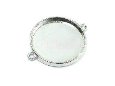 Baza-łącznik pod kaboszon 25 mm kolor srebrny - 1 sztuka