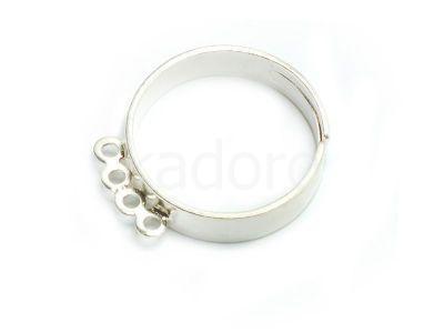 Baza pierścionka z 4 kółkami kolor srebrny