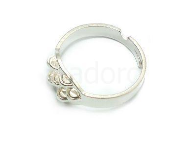 Baza pierścionka z 7 zaczepami kolor srebrny