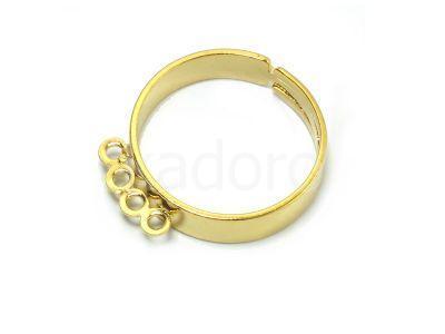 Baza pierścionka z 4 kółkami kolor złoty