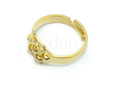 Baza pierścionka z 7 zaczepami kolor złoty