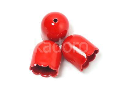 Końcówki czerwone bez uszka 12.5x11mm - 2 sztuki