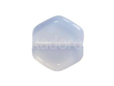 Hexagon White Opal 16x15 mm - 2 sztuki
