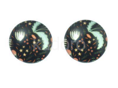 Kaboszon kwiatowy deseń XI 20 mm - 1 sztuka