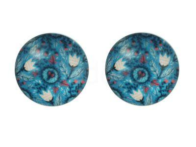 Kaboszon kwiatowy deseń XVI 20 mm - 1 sztuka