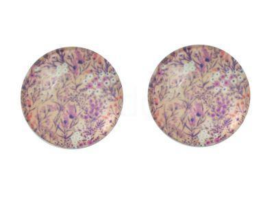 Kaboszon kwiatowy deseń XVII 20 mm - 1 sztuka
