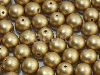 Round Beads Matte Metallic Flax 8 mm - 10 sztuk