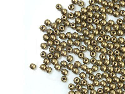 Round Beads Gold Bronze 3 mm - opakowanie