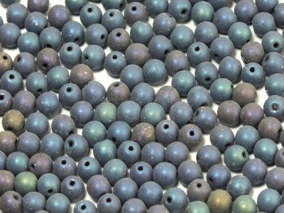 Round Beads Matte Iris Blue 4 mm - opakowanie