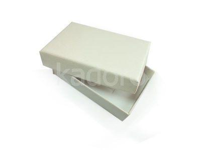 Pudełko z teksturą płótna prostokątne białe