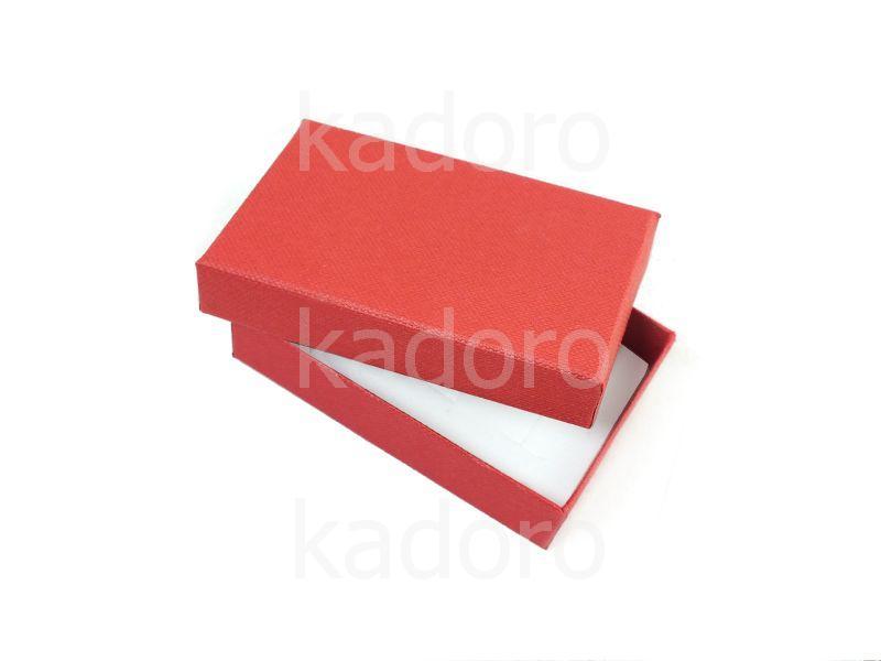 Pudełko z teksturą płótna prostokątne czerwone