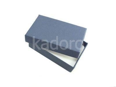 Pudełko z teksturą płótna prostokątne granatowe