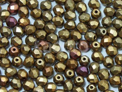 FP 4mm Matte Metallic Iris Lt Gold - 40 sztuk