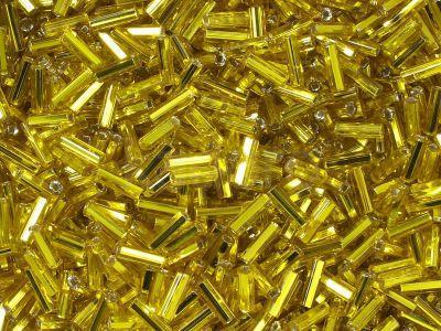 PRECIOSA Bugle 3-Silver-Lined Lemon SH - 10 g