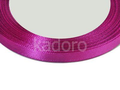 Wstążka atłasowa 6 mm magenta - rolka