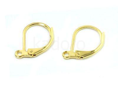 Bigle angielskie stalowe 14 mm złote - para