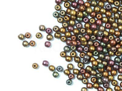 Round Beads Matte Metallic Iris Gold 3 mm - opakowanie