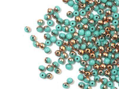 Round Beads Turquoise - Apollo Gold 3 mm - opakowanie