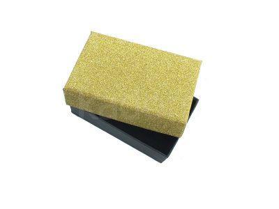 Prostokątne pudełko glamour złote