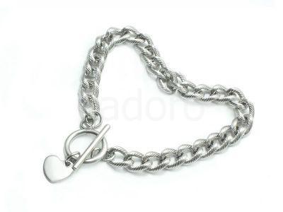 Baza bransoletki stalowa łańcuch z zawieszką - 1 sztuka