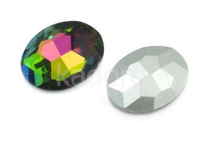 Szklany kamień fasetowany owal 25x18mm Crystal Vitrail Medium F - 1 sztuka