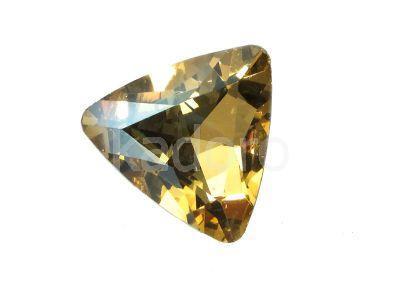 Szklany kamień fasetowany trójkąt Golden Shadow F 23 mm - 1 sztuka