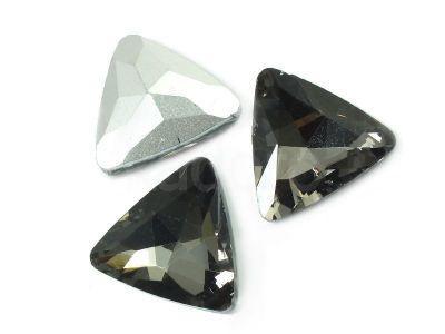 Szklany kamień fasetowany trójkąt Gray F 18 mm - 1 sztuka