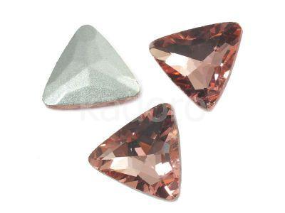 Szklany kamień fasetowany trójkąt Blush Rose F 18 mm - 1 sztuka