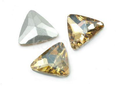 Szklany kamień fasetowany trójkąt Golden Shadow F 18 mm - 1 sztuka