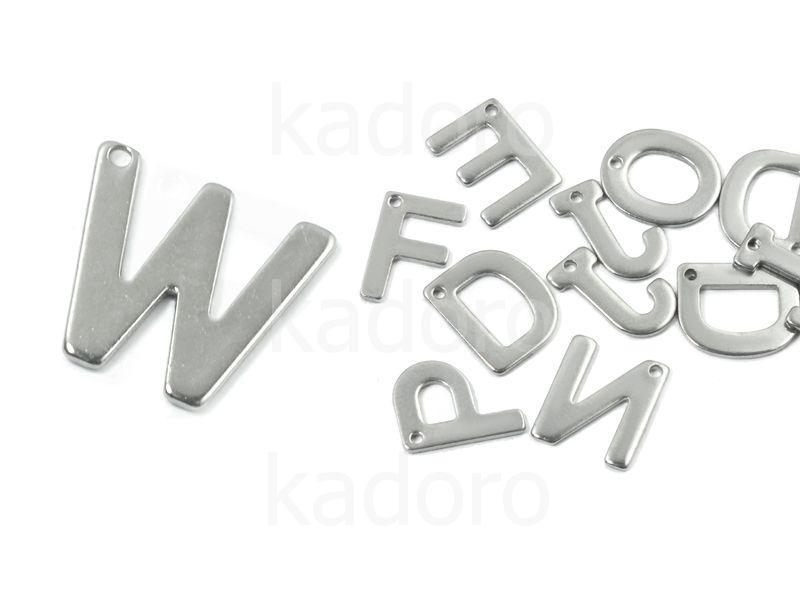 Literka W - alfabet stalowy - 1 sztuka