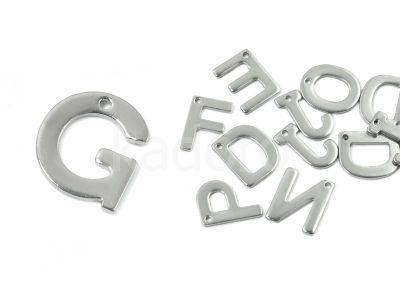 Literka G - alfabet stalowy - 1 sztuka