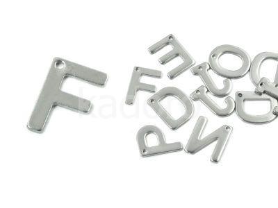 Literka F - alfabet stalowy - 1 sztuka