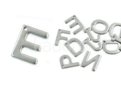 Literka E - alfabet stalowy - 1 sztuka