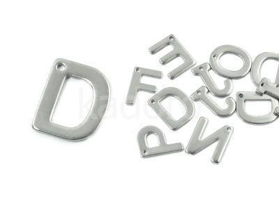 Literka D - alfabet stalowy - 1 sztuka
