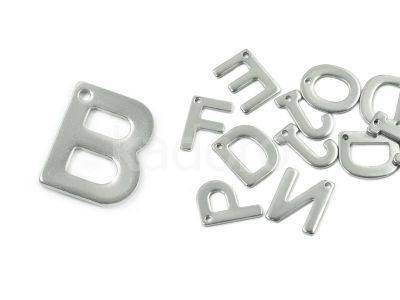 Literka B - alfabet stalowy - 1 sztuka