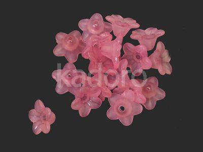 Kwiatek akrylowy różowy 10x5 mm - 10 sztuk
