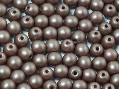 Round Beads Powdery Brown 4 mm - opakowanie