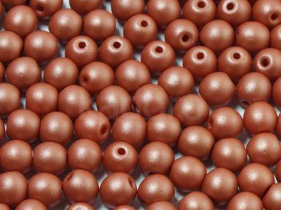 Round Beads Powdery Lt Brown 4 mm - opakowanie