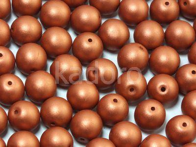 Round Beads Satin Metallic Bronze 8 mm - 10 sztuk