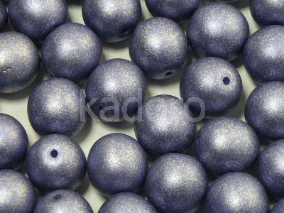 Round Beads Satin Metallic Tanzanite 10 mm - 6 sztuk