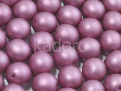 Round Beads Satin Metallic Amethyst 10 mm - 6 sztuk