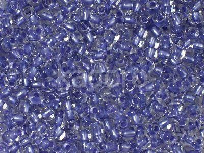 PRECIOSA Rocaille 6o-Violet-Lined Crystal - 50 g