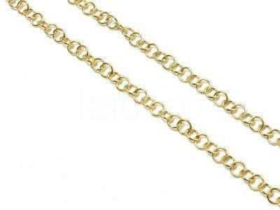 Łańcuszek stalowy złoty 5 mm - 0.5 m