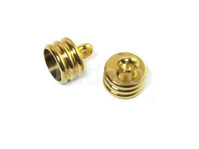 Stalowe ozdobne końcówki do wklejania 11x10 mm złote - 2 sztuki