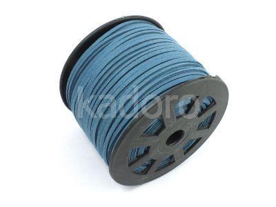 Rzemień niebieski zamsz ekologiczny 3 mm - 1 m