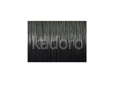 Sznurek lakierowany czarny 0.5 mm  - 3 m